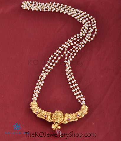 The Kanthirava Silver Pearl Necklace
