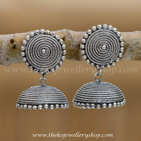 Online shopping pure silver jhumka