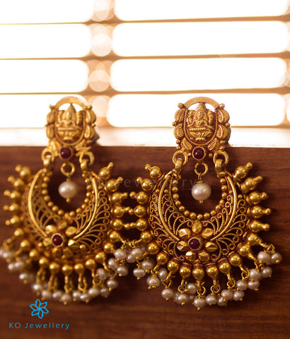 Shop Gold Plated Silver Temple Jewellery Earrings Designs Online