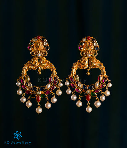 The Atyuha Silver Navratna Earrings