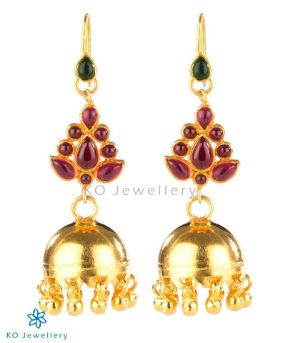 Gold plated temple jewellery jhumkas online