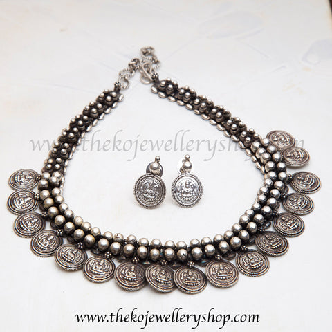 Buy online hand crafted silver necklace for women