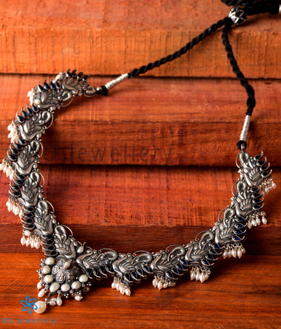 The Mayil Silver Peacock Necklace
