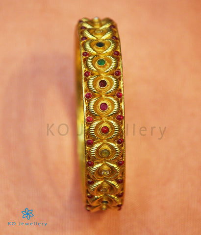The Varadha Silver Bangle (Navratna)