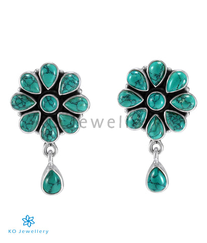 The Aamod Silver Gemstone Ear-stud (Turquoise)