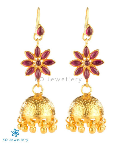 traditional jhumkis South Indian temple jewellery designs