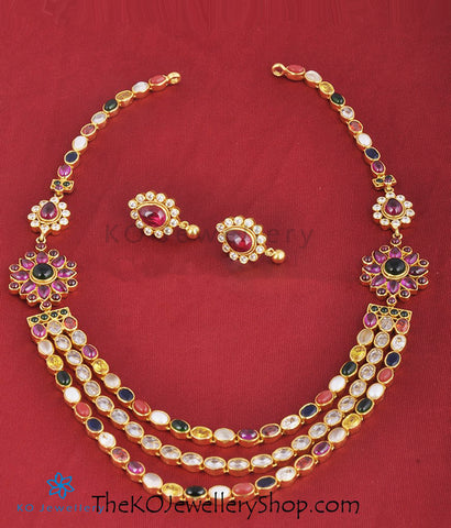 The Sujati Silver Navaratna Necklace