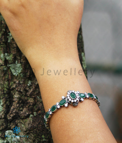 The Harini Silver Kemp Bracelet (Oxidised)