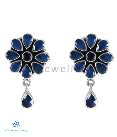 The Aamod Silver Gemstone Ear-stud (Blue)