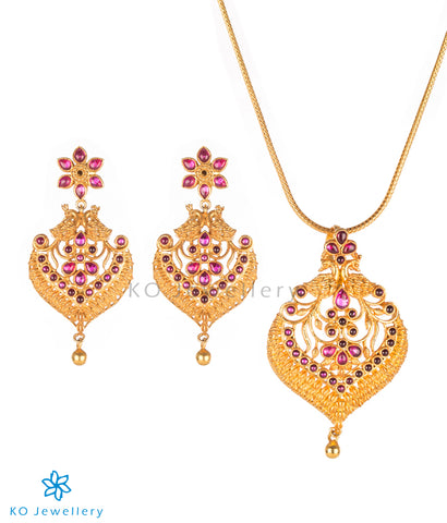 antique gold temple jewellery designs online