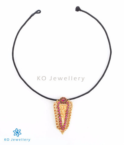 Heritage temple jewellery necklace with kirtimukha motif