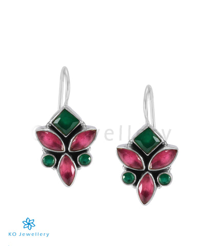 The Tarun Silver Gemstone Earrings (Multicolour)