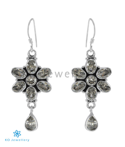 The Katha Silver Gemstone Earrings (White)