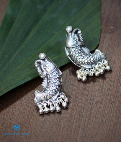 The Matsya Silver Earrings