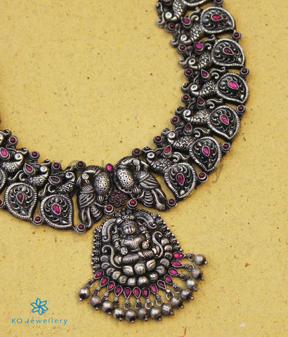 The Padma Antique Silver Lakshmi Necklace