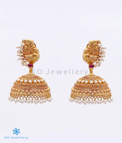 The Iravat Silver and Pearl Jhumka