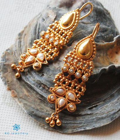 The Abir Silver Earrings(Pearl)