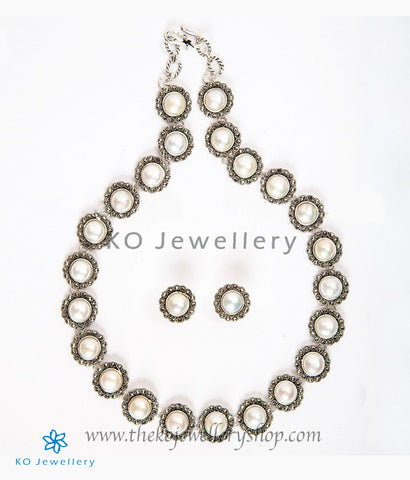 The Mauktika Silver Pearl Necklace