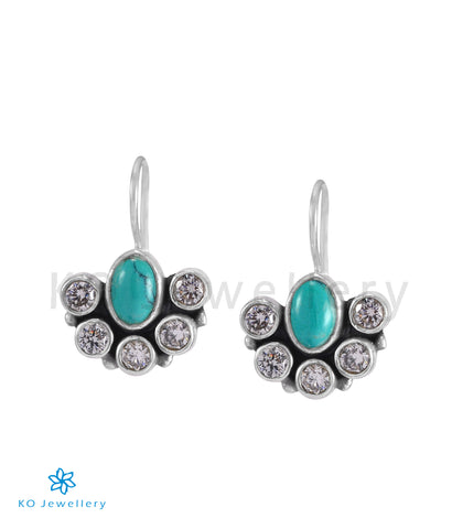 The Pranjal Silver Gemstone Earrings (Turquoise)