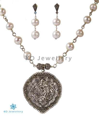 The Mohana Silver Necklace Set - KO Jewellery