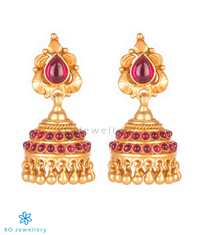 Purchase authentic temple jhumkas online shopping