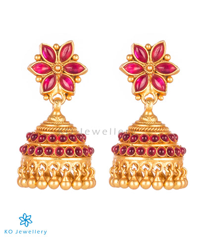 Purchase gold-plated temple jewellery jhumkas online