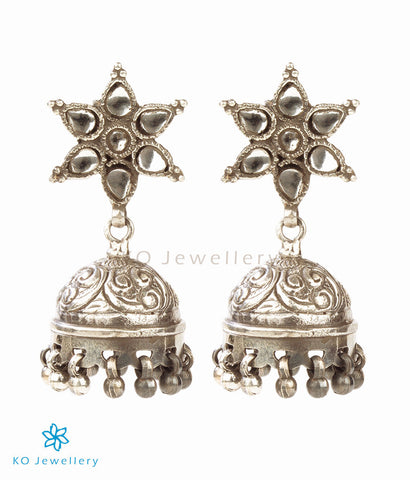 The Nakshatra Silver Glass Jhumka