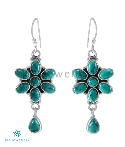 The Katha Silver Gemstone Earrings (Turquoise)