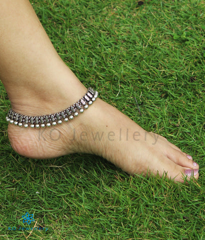The Kriti  Silver Bridal Anklets