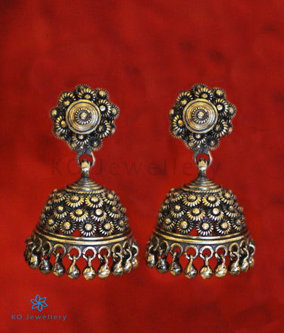 The Raaga Silver Jhumka (Oxidised)