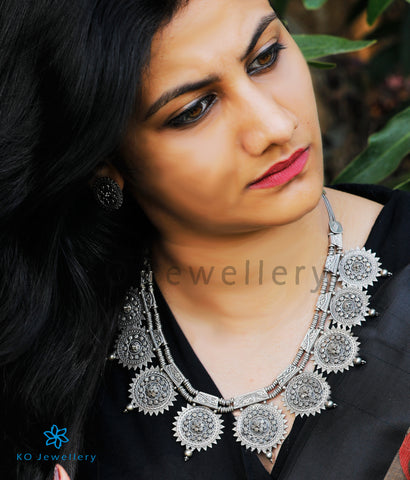 The Kripa Antique Silver Necklace