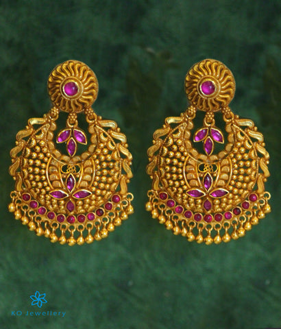 The Abharan Silver Chand-Bali Earrings