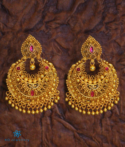 The Ahana Silver Chand-Bali Earrings