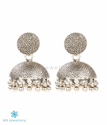 The Vedanshi Silver Jhumka