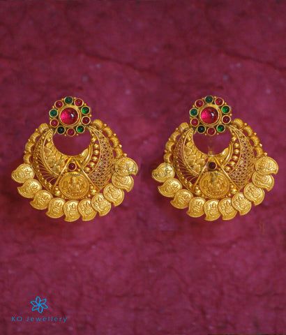 The Dhriti  Silver Chand-Bali Earrings