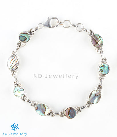 Silver and abalone bracelet online shopping India