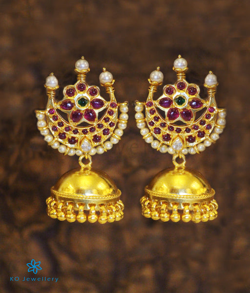 Authentic Heritage Temple Jewellery Gold Plated Jhumkas