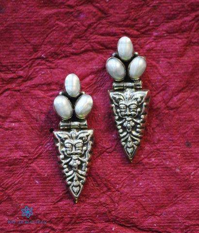 The Bhiti Silver Earrings (Pearl)