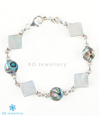 Abalone and mother-of-pearl Indian gemstone jewellery