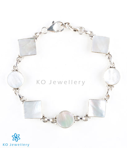 Cute silver charm bracelet for office wear