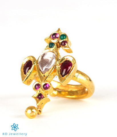 Gold plated South Indian temple jewellery heritage ring