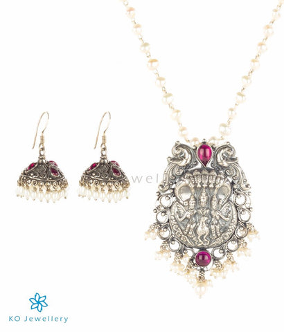 The Skanda Silver Pearl Necklace