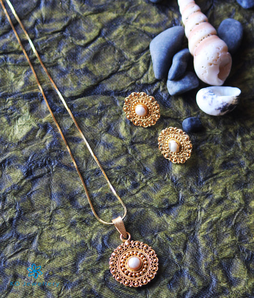 Gold Plated Pearl Jewellery in Silver - Pendants
