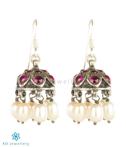 The Sampada Silver Kemp Jhumki (Oxidised)
