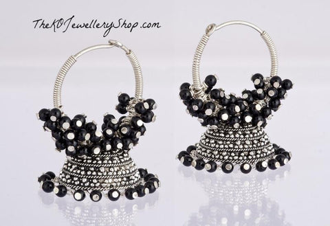 The Black Silver bali - KO Jewellery