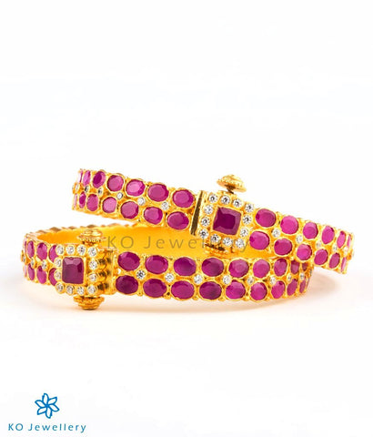 Traditional gold plated silver bangles online shopping India
