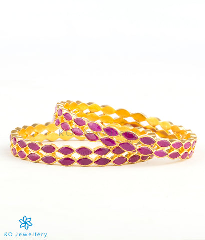 Purchase gold plated silver bangles online