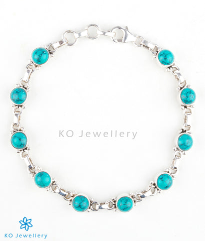 Handmade turquoise charm bracelet for Indian and Western wear