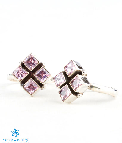 Handmade silver and real gemstone toe-rings online