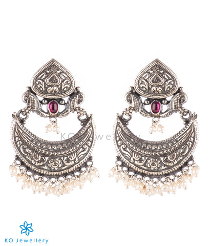The Vrsala Silver Chand Bali Earrings